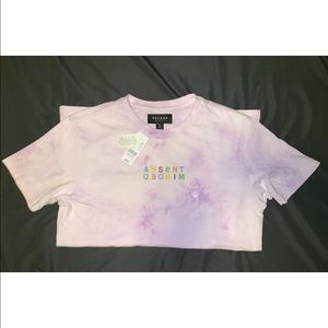 "PacSun tie dye ""ABSENT MINDED"" embroidered t-shirt"